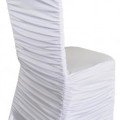 White Spandex Rouch Chair Cover