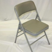 Gray Padded Chair
